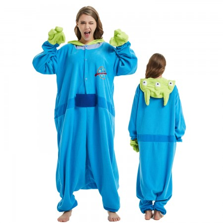 Toy Story Three-eyed Monster Onesie Costume Pajama for Adult Women & Men Halloween Costumes
