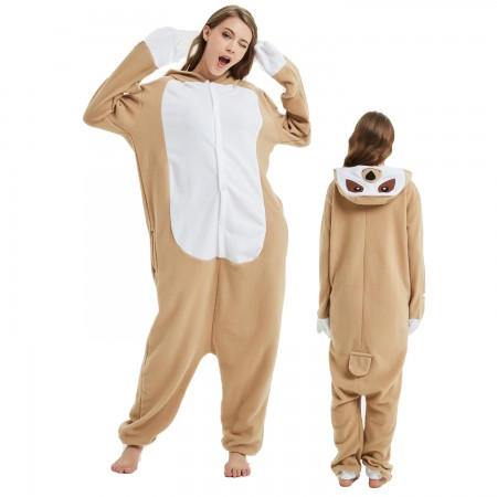 Sloth Onesie Costume Pajama for Adult Women & Men Halloween Costumes