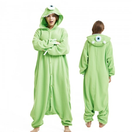 Michael Wazowski Onesie Costume Pajama for Adult Women & Men Halloween Costumes