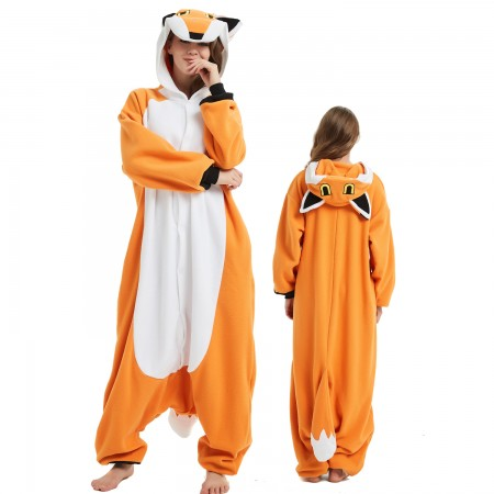 Mr. Fox Onesie Costume Pajama for Adult Women & Men Halloween Costumes