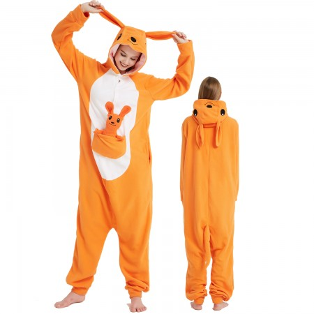 Kangaroo Onesie Costume Pajama for Adult Women & Men Halloween Costumes