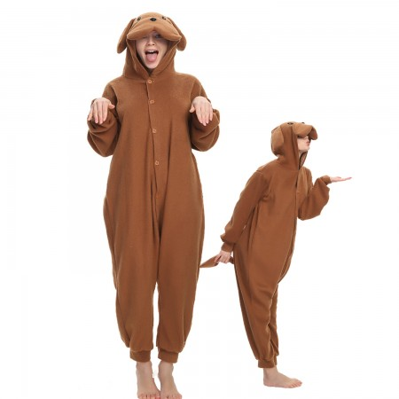 Teddy Dog Onesie Costume Pajama for Adult Women & Men Halloween Costumes