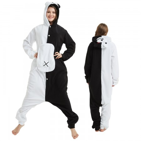 Monokuma Onesie Costume Pajama for Adult Women & Men Halloween Costumes