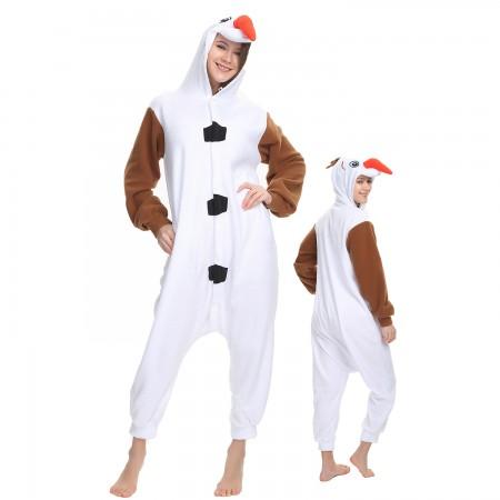 Olaf Onesie Costume Pajama for Adult Women & Men Halloween Costumes
