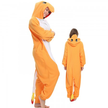 Charmander Onesie Costume Pajama for Adult Women & Men Halloween Costumes