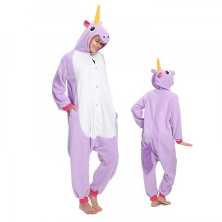 Purple Unicorn Onesie Costume Pajama for Adult Women & Men Halloween Costumes
