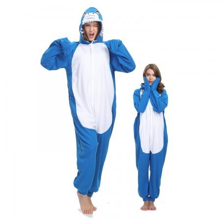 Adult Shark Onesie Costume Pajama for Women & Men Halloween Costumes