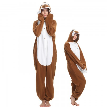 Adult Sloth Onesie Costume Pajama for Women & Men Halloween Costumes