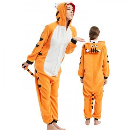 Bengal Tiger Onesie Costume Pajama for Adult Women & Men Halloween Costumes