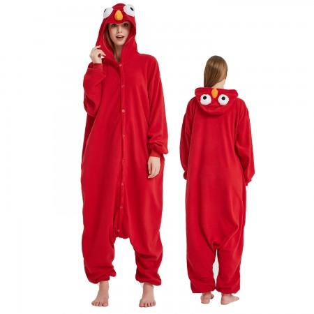 Sesame Street Red Monster Onesie Costume Pajama for Adult Women & Men Halloween Costumes