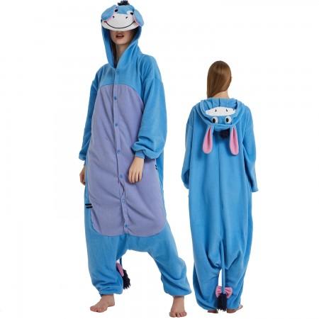 Eeyore Onesie Costume Pajama for Adult Women & Men Halloween Costumes