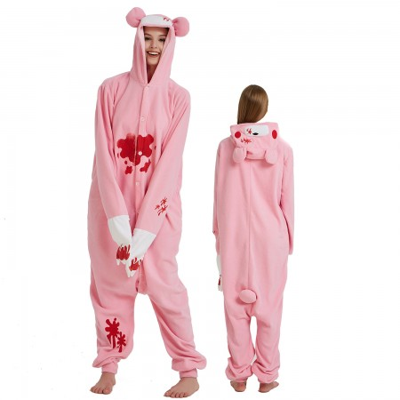 Pink Gloomy Bear Onesie Costume Pajama for Adult Women & Men Halloween Costumes