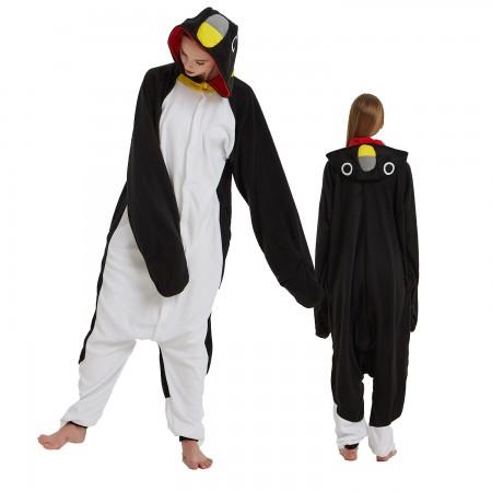 Black Penguin Onesie Costume Pajama for Adult Women & Men Halloween Costumes