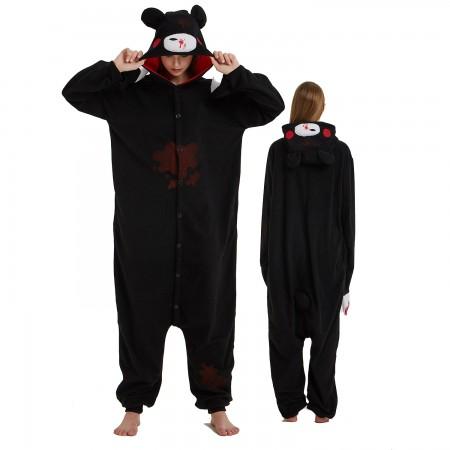 Black Gloomy Bear Onesie Costume Pajama for Adult Women & Men Halloween Costumes