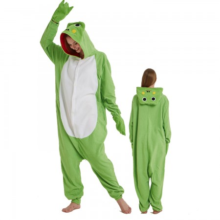Frog Onesie Costume Pajama for Adult Women & Men Halloween Costumes