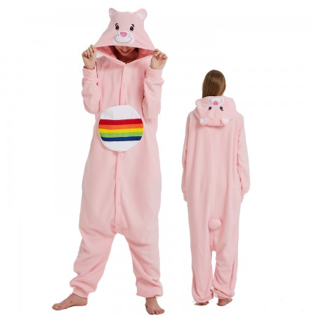 Rainbow Bear Onesie Costume Pajama for Adult Women & Men Halloween Costumes