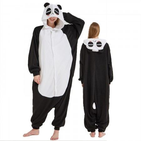Panda Onesie Costume Pajama for Adult Women & Men Halloween Costumes