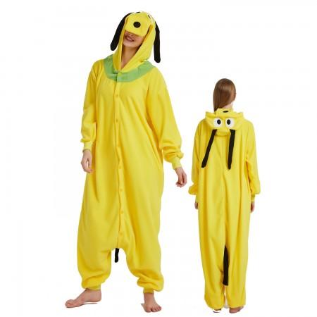 Goofy Dog Onesie Costume Pajama for Adult Women & Men Halloween Costumes