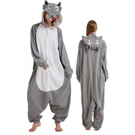 Wolf Onesie Costume Pajama for Adult Women & Men Halloween Costumes