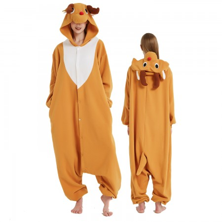 Reindeer Onesie Costume Pajama for Adult Women & Men Halloween Costumes