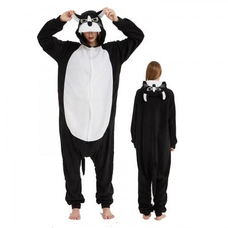 Black Panther Onesie Costume Pajama for Adult Women & Men Halloween Costumes