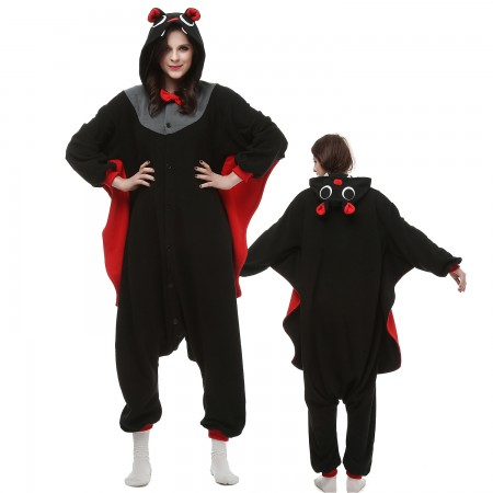 Bat Costume Onesie Pajamas Adult Animal Onesie for Women & Men