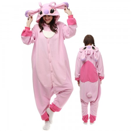 Lilo & Stitch Angel Costume Onesie Pajamas Adult Animal Onesie for Women & Men
