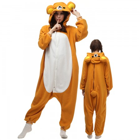 Rilakkuma Costume Onesie Pajamas Adult Animal Onesie for Women & Men