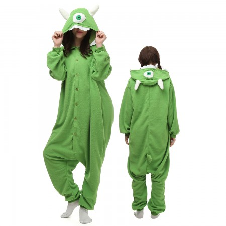Monsters University Mike Costume Onesie Pajamas Adult Animal Onesie for Women & Men