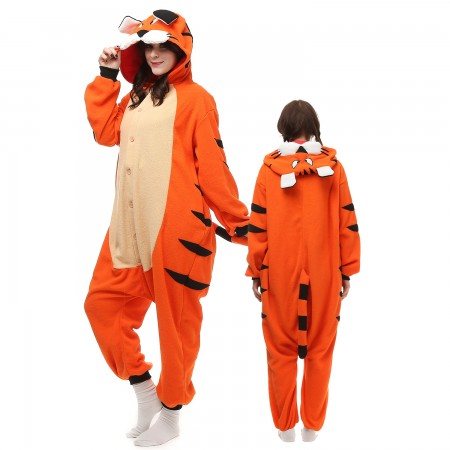 Bengal Tiger Costume Onesie Pajamas Adult Animal Onesie for Women & Men
