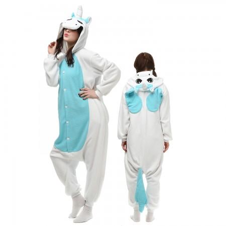Blue Pegasus Unicorn Costume Onesie Pajamas Adult Animal Onesie for Women & Men