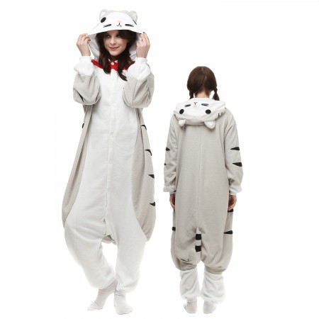 Cheese Cat Costume Onesie Pajamas Adult Animal Onesie for Women & Men