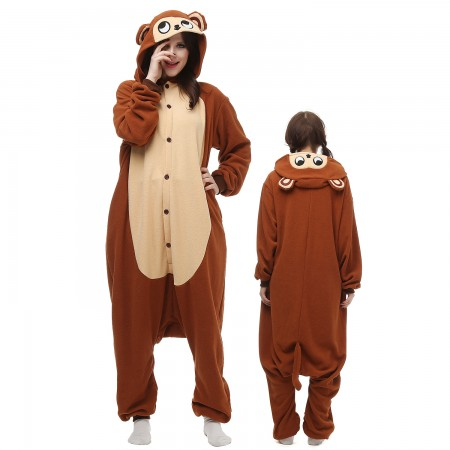 Monkey Costume Onesie Pajamas Adult Animal Onesie for Women & Men