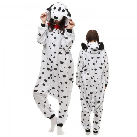 Spotted Dog Costume Onesie Pajamas Adult Animal Onesie for Women & Men
