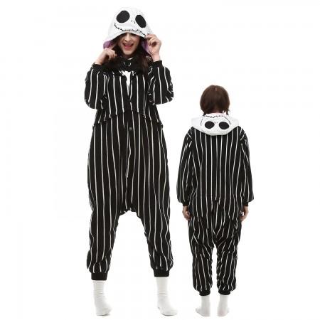 Jack Skellington Costume Onesie Pajamas Adult Animal Onesie for Women & Men