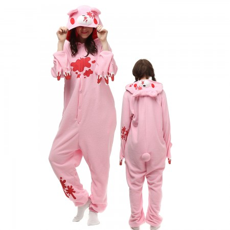 Pink Gloomy Bear Costume Onesie Pajamas Adult Animal Onesie for Women & Men