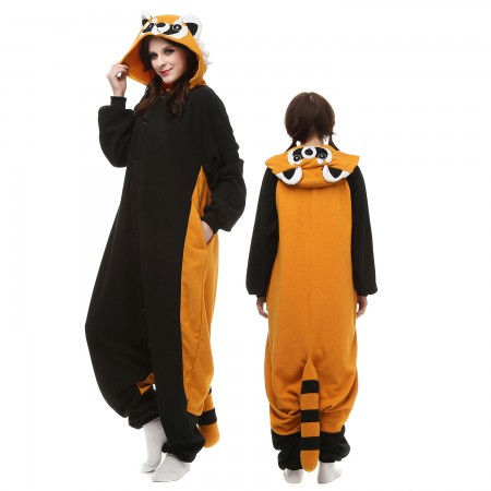 Red Panda Raccoon Costume Onesie Pajamas Adult Animal Onesie for Women & Men