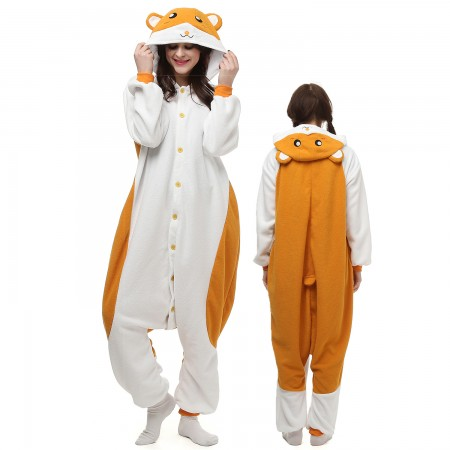 Hamster Costume Onesie Pajamas Adult Animal Onesie for Women & Men
