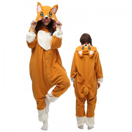 Corgi Dog Costume Onesie Pajamas Adult Animal Onesie for Women & Men