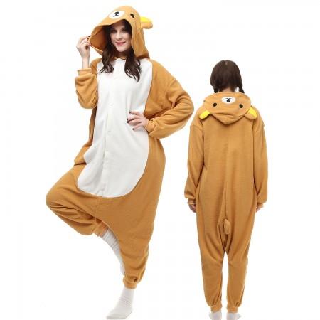 Rilakkuma Costume Onesie Pajamas Adult Animal Onesie for Women & Men