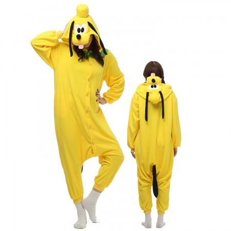 Goofy Dog Costume Onesie Pajamas Adult Animal Onesie for Women & Men