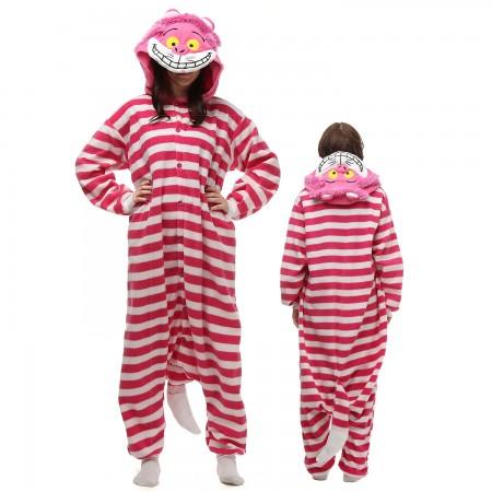Cheshire Cat Costume Onesie Pajamas Adult Animal Onesie for Women & Men