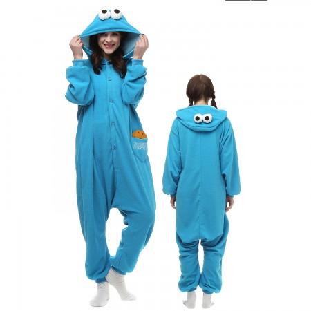 Blue Sesame Street Costume Onesie Pajamas Adult Animal Onesie for Women & Men