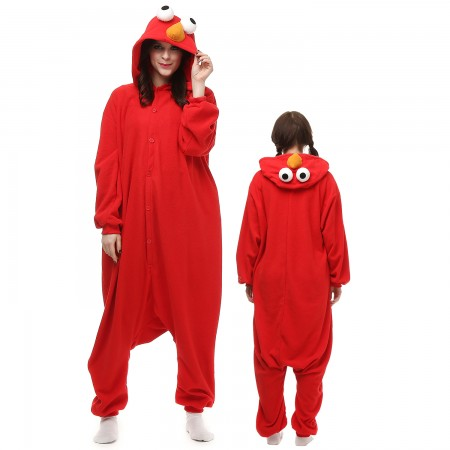 Red Sesame Street Costume Onesie Pajamas Adult Animal Onesie for Women & Men