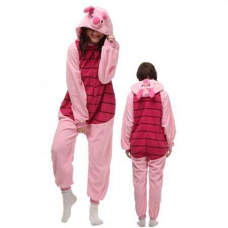 Piglet Costume Onesie Pajamas Adult Animal Onesie for Women & Men