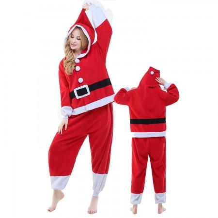 Santa Claus Costume Onesie Pajamas Adult Animal Onesie for Women & Men