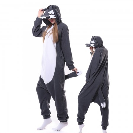 Wolf Costume Onesie Pajamas Adult Animal Costumes for Women & Men