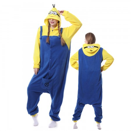 Minions Costume Onesie Pajamas Adult Animal Costumes for Women & Men