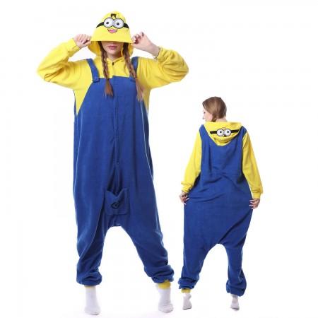 Cute Minions Costume Onesie Pajamas Adult Animal Costumes for Women & Men