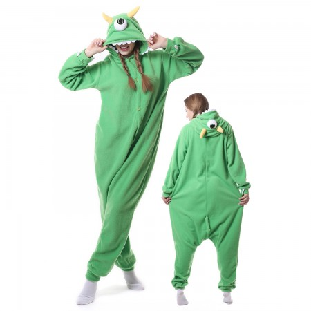 Michael Wazowski Costume Onesie Pajamas Adult Animal Costumes for Women & Men